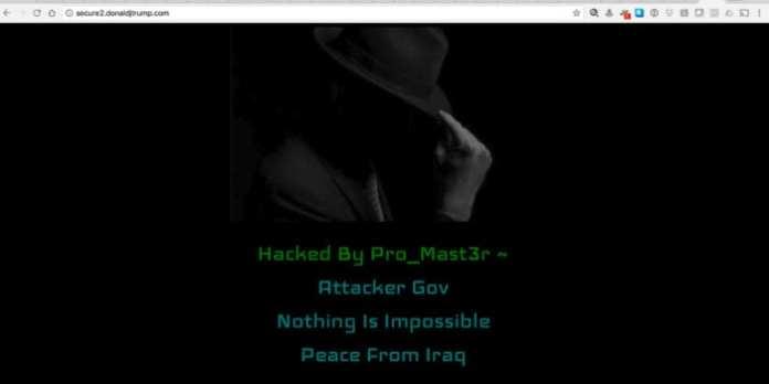 Donald Trump site de donald trump é hackeado por iraquianos