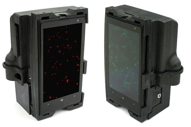 Lumia 1020 cientistas transformam lumia 1020 em 'laboratório de análise' de dna Cientistas transformam Lumia 1020 em 'laboratório de análise' de DNA smartphonemicroscope mid