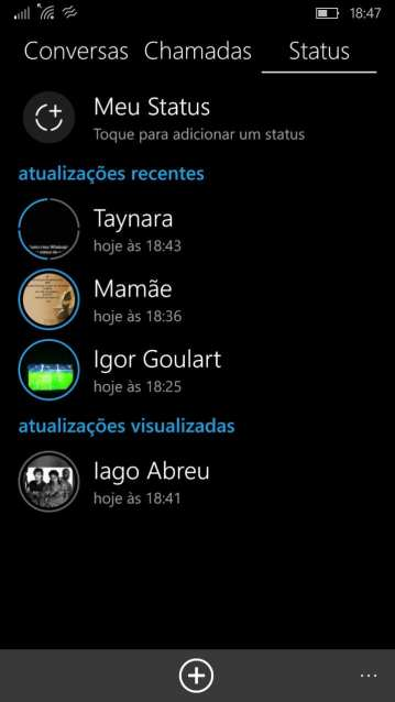 """Whatsapp Status whatsapp status: aplicativo lança """"histórias"""" mas remove recurso de status em texto"""