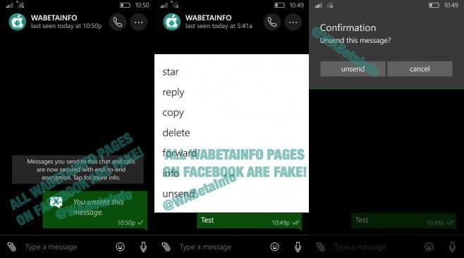 Windows 10 Mobile whatsapp beta do windows 10 mobile trás recurso para cancelar envio de mensagem Whatsapp Beta do Windows 10 Mobile trás recurso para cancelar envio de mensagem whatsappBetaWPunsendmsgg