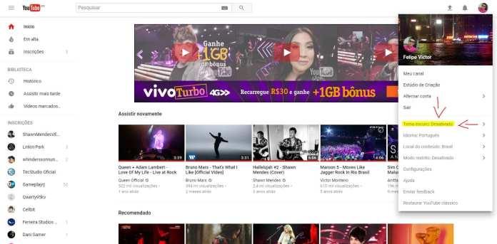 Youtube dark youtube dark: como deixar o youtube com tema escuro