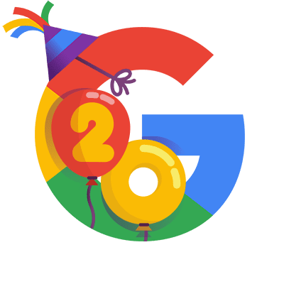Google's 20th Birthday google's 20th birthday google aniversário google Google's 20th Birthday: Buscador comemora aniversário celebrando momentos históricos em Doodle unnamed