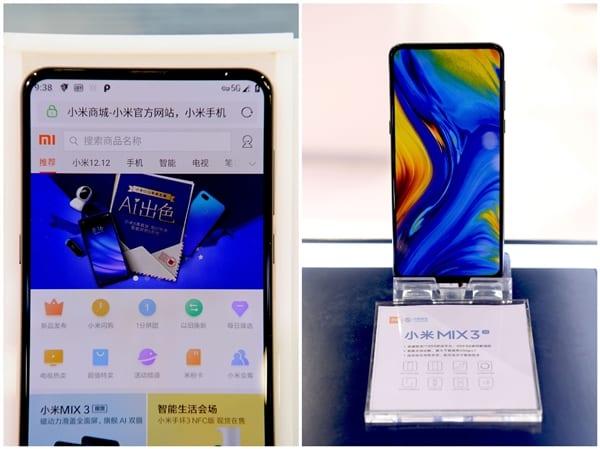 Xiaomi Mi Mix 3 5G é o primeiro smartphone 5G do mundo 5G Xiaomi Mi MIX 3