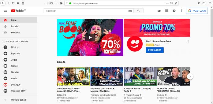 Veja como utilizar o YouTube sem anúncios no PC; Você não paga nada por isso exemplo 1 1024x500
