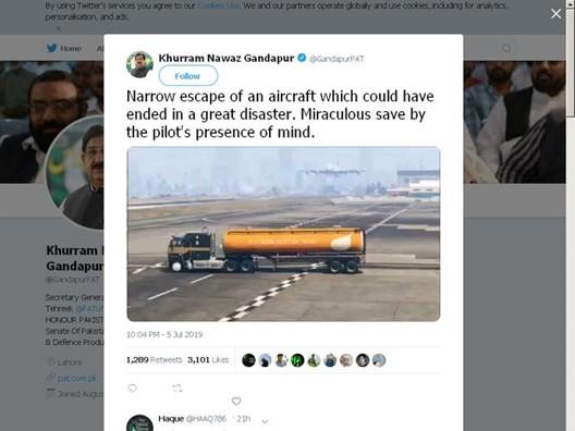 """Político do Paquistão compartilha vídeo de 'GTA V' e aplaude """"piloto"""" que desviou de atentado terrorista gta 12144339279387"""