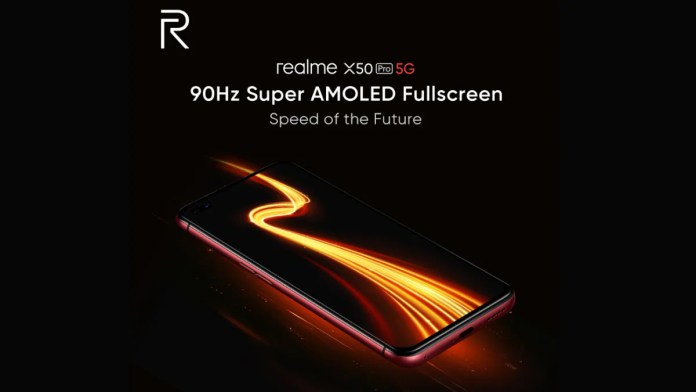 realme x50 pro 5g  Realme X50 Pro 5G aparece com tela Super AMOLED de 90 Hz realme x50 pro 5g display teaser image twitter 1581685562315
