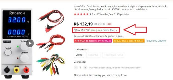 AliExpress  AliExpress agora oferece parcelamento sem juros para brasileiros parcelamento aliexpress