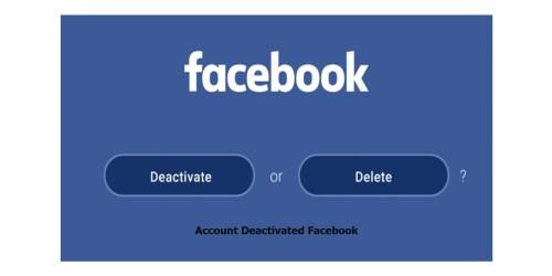 Account Deactivated Facebook