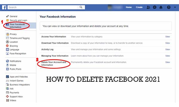 How To Delete Facebook 2021