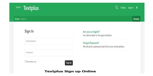 Textplus Sign up Online