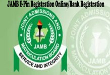 JAMB E-Pin Registration Online
