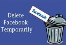 Delete Facebook Temporarily - Facebook Account Delete   How to Delete Facebook Account