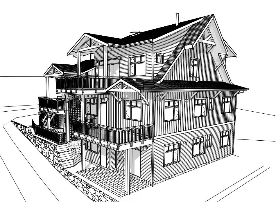 Fourplex wireframe