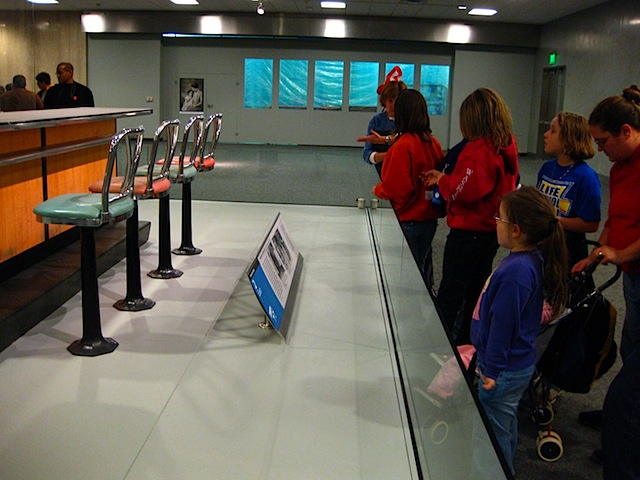 Part of the lunchcounter from the Woolworths store in Greensboro, North Carolina, is now displayed at the Smithsonians Museum of American History, in Washington, D.C.