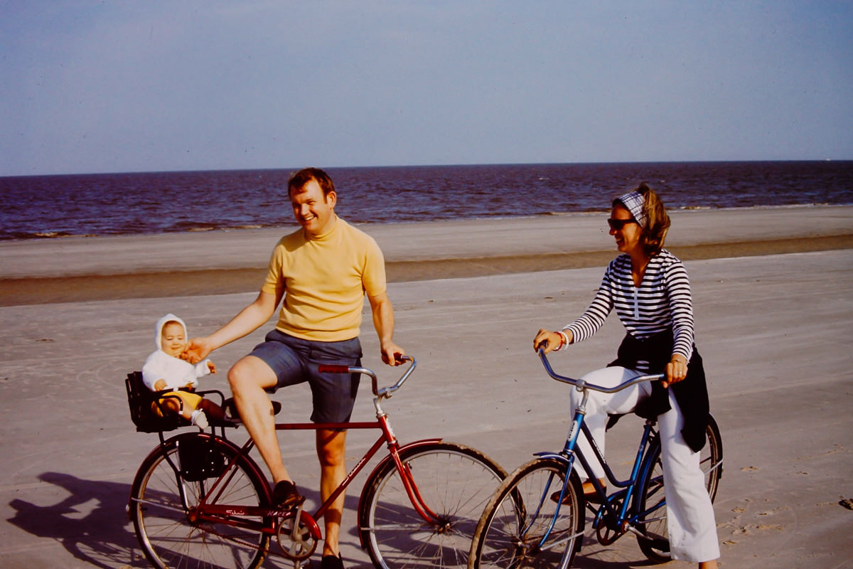April 1971: Jekyll Island; Doug, Bill, Jan