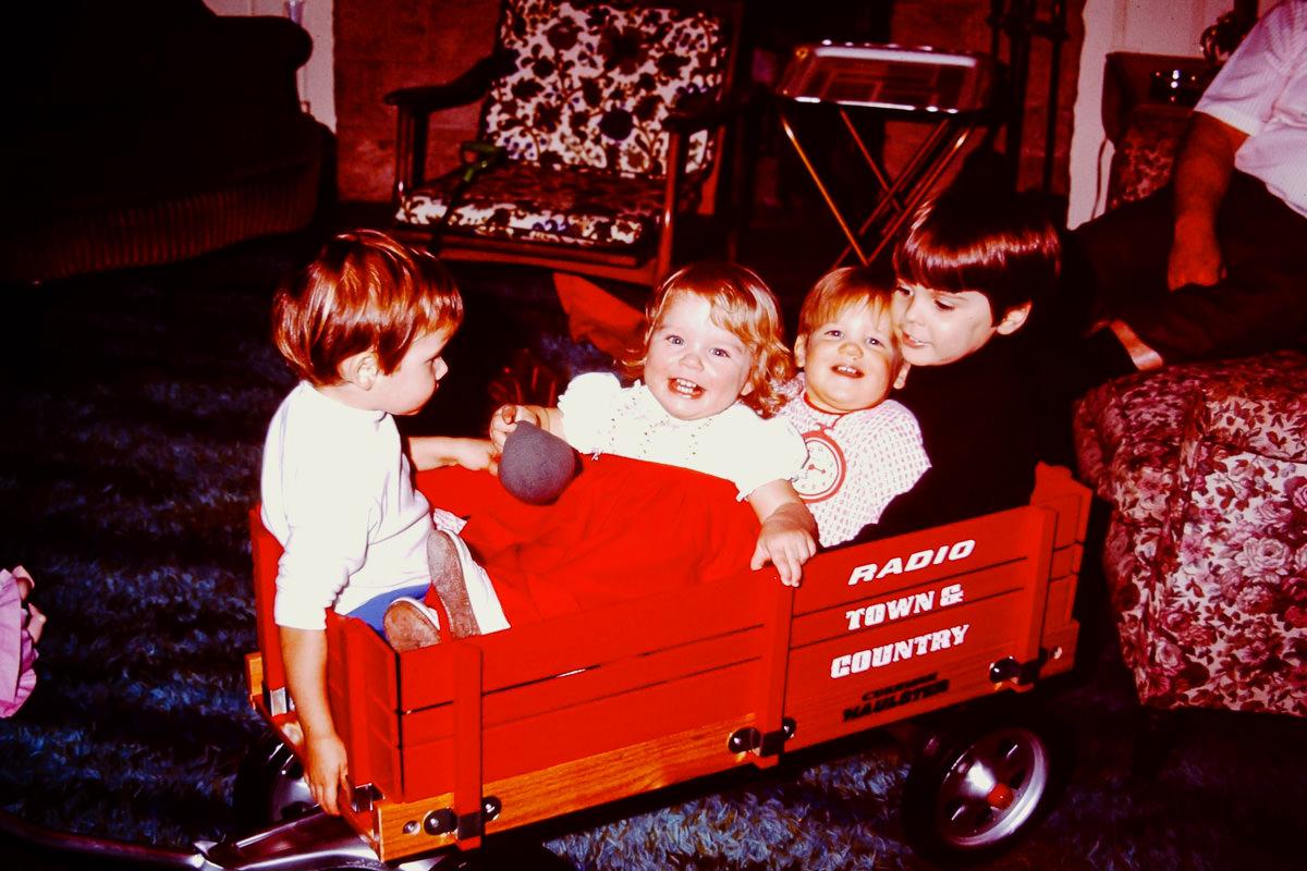 Christmas 1972: I have no idea, Jenny, Doug, Dickey