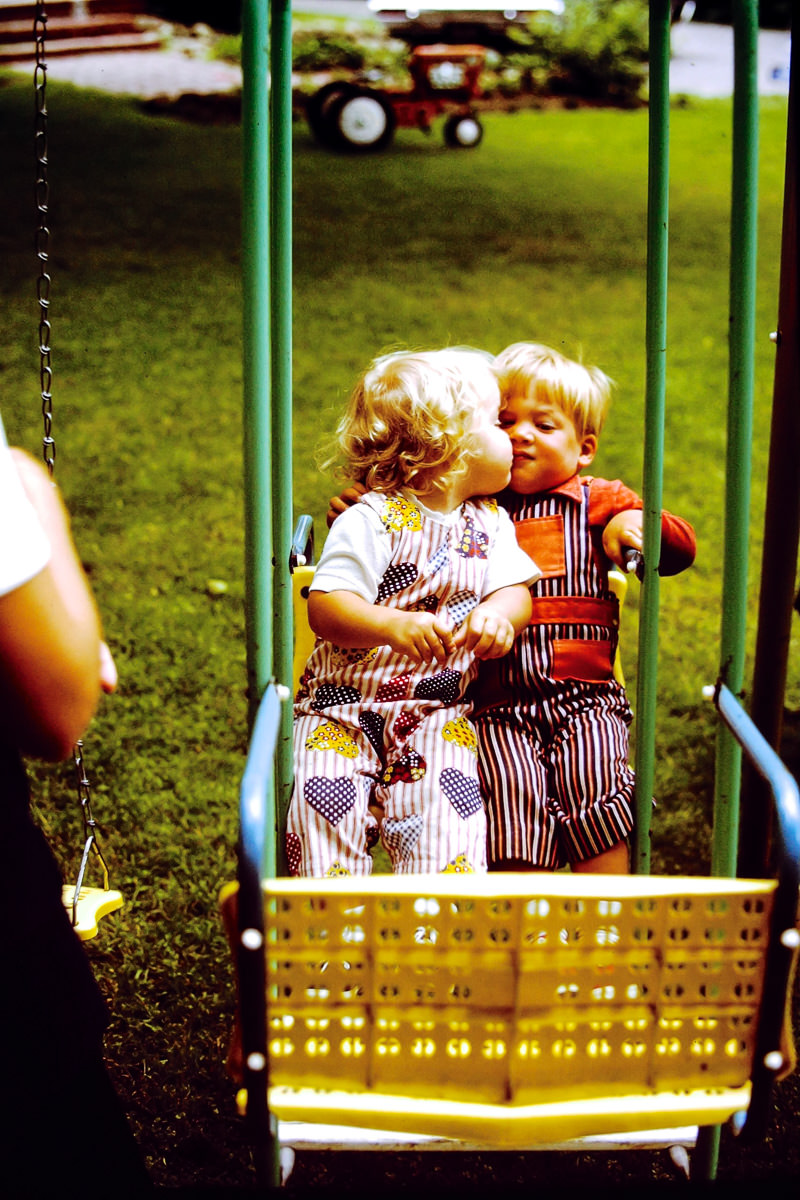 September 1970: undetermined motherly arm, Jenny, Doug