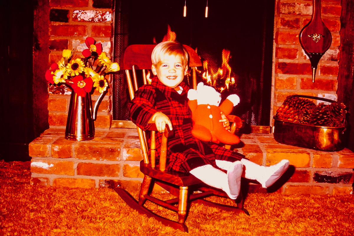 "Christmas 1972: Doug, ""Red Ted"""