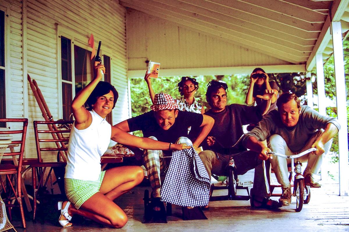 "Walloon Lake 1973: Mary Lou, Bill, Jan, Dick, Sandy Dunn, Jim Dunn (the book is self-help classic ""I'm Okay, You're Okay"")"