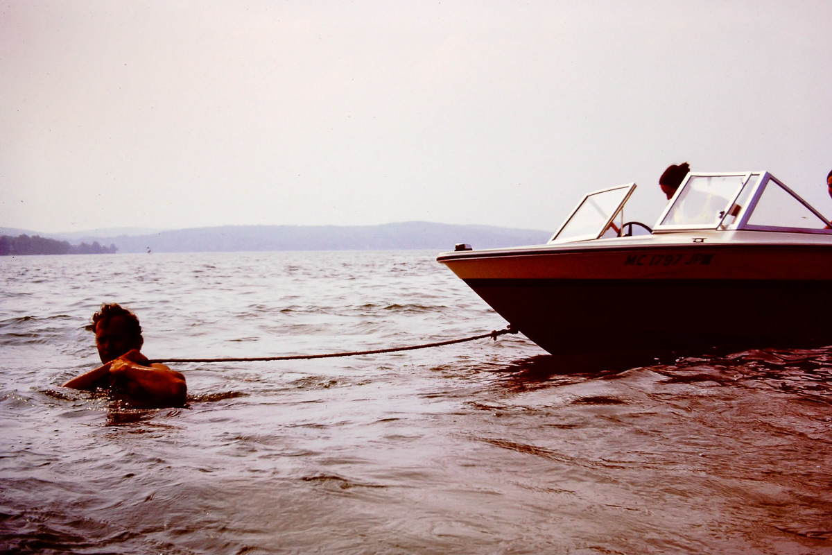 Walloon Lake 1973: I'm guessing this is Dick towing the boat