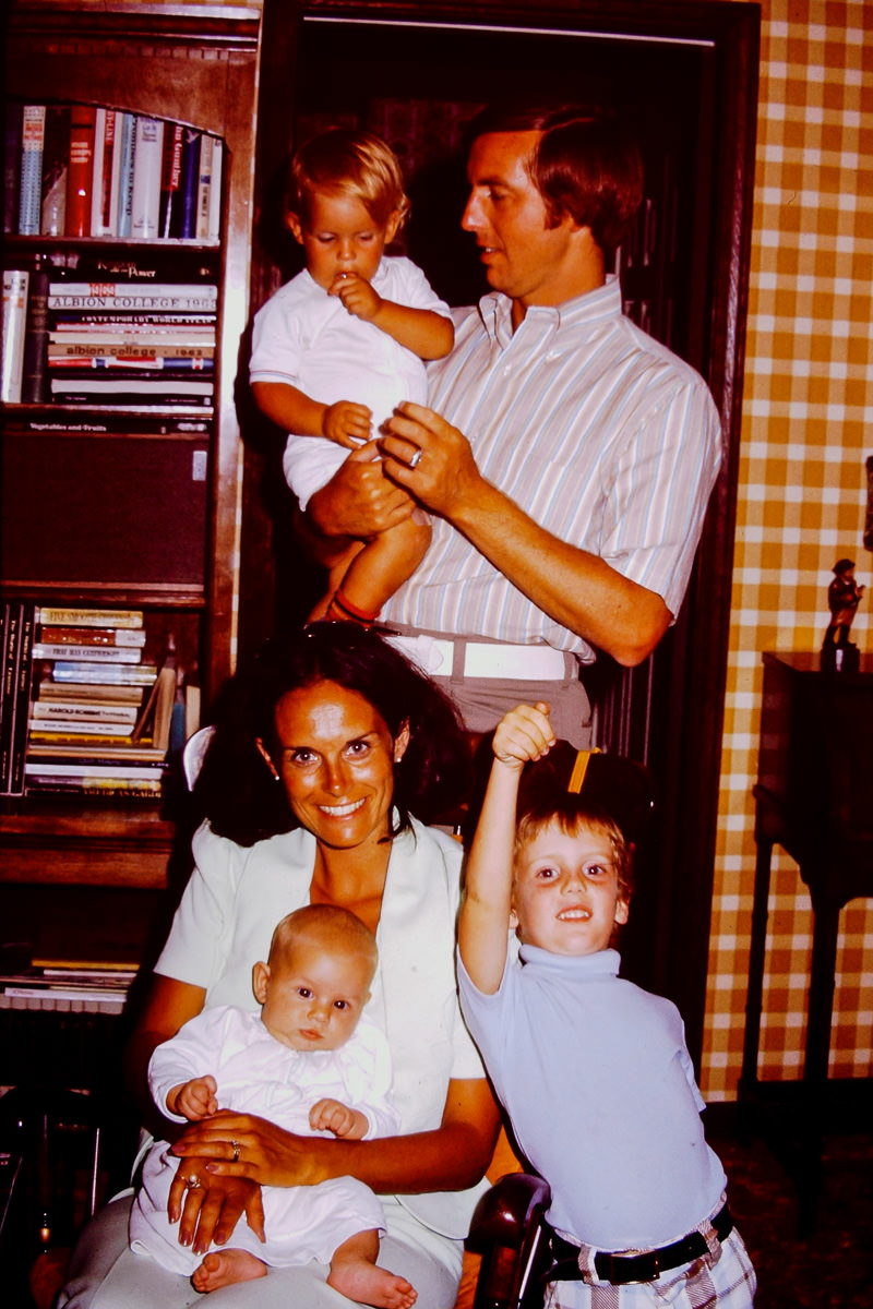 1974: Matthew Battenberg held by J.T. Battenberg, me, Luann Battenberg, Jay Battenberg