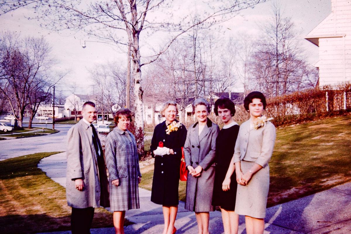 1963: Bill, Susie Goudie, Fran Goudie, Joan Matilo, Jan, Mary Lou Matilo