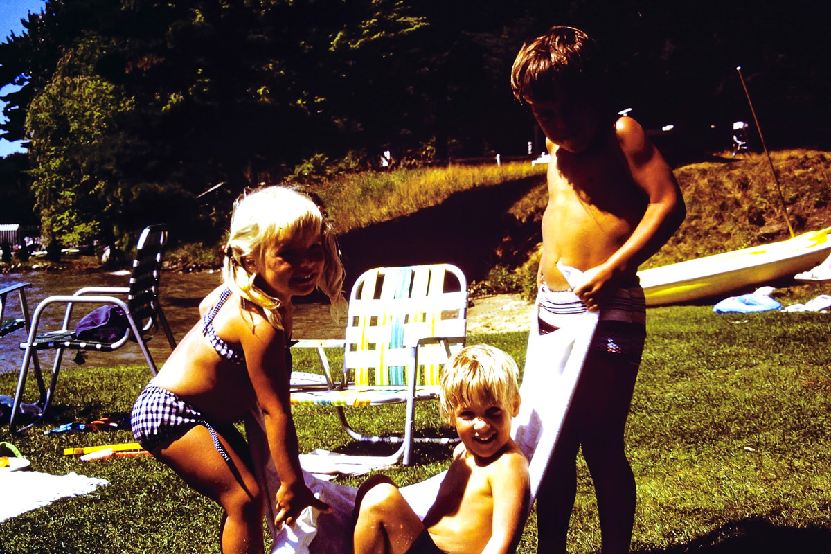 Walloon Lake 1974: Jenny, Doug, Dickey
