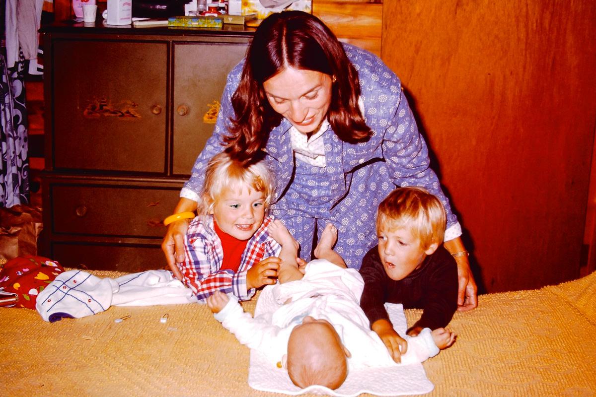 July 1974: Jenny, Jan, Doug, me