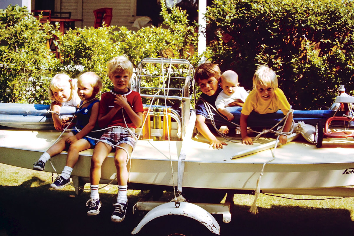 Walloon Lake 1974: Jenny, Greg, Rob, Dickey, me, Doug