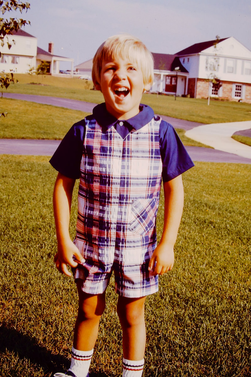 Fall 1974: Doug, happy and wearing some type of onesie