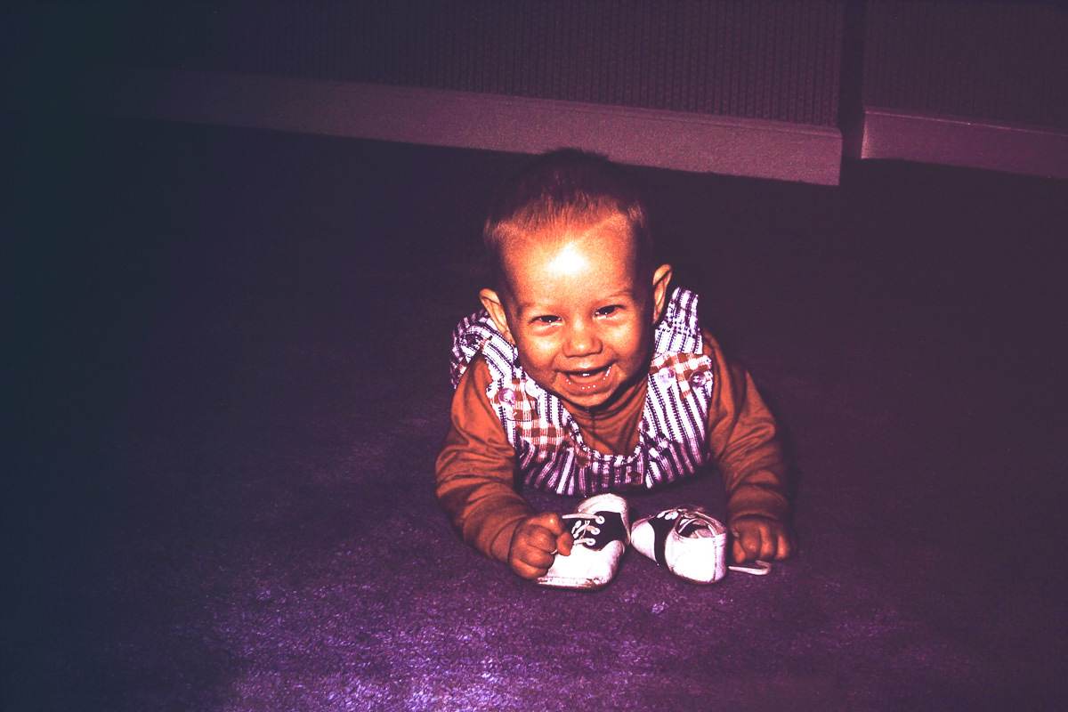 1974: I prepared by chewing on shoes (saddle shoes, of course)