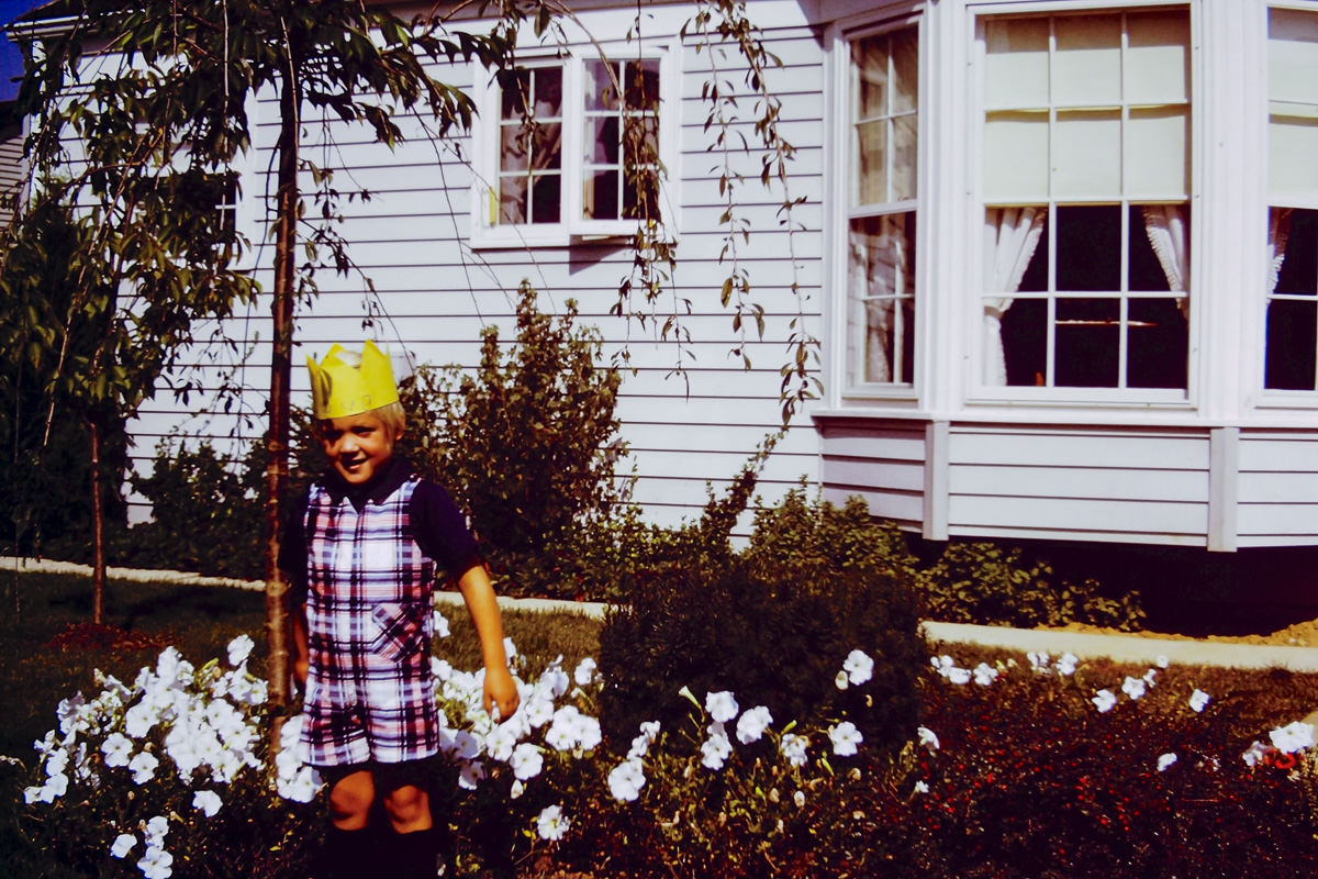 Sept. 1974: Doug - every birthday boy needs a crown and this one has his