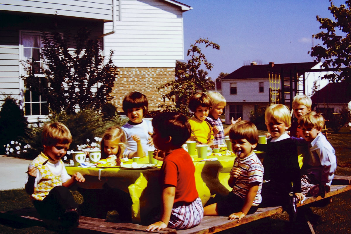 Sept. 1974: Outdoor party too