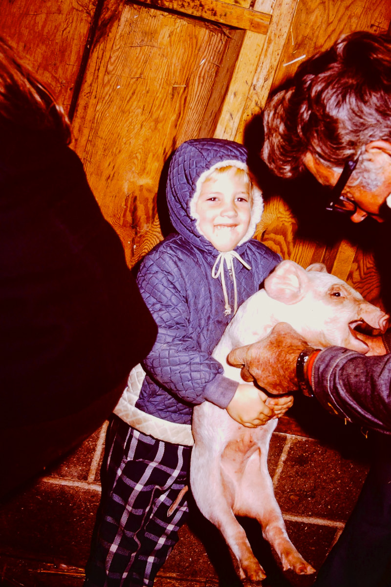 1974: Doug, unhappy pig