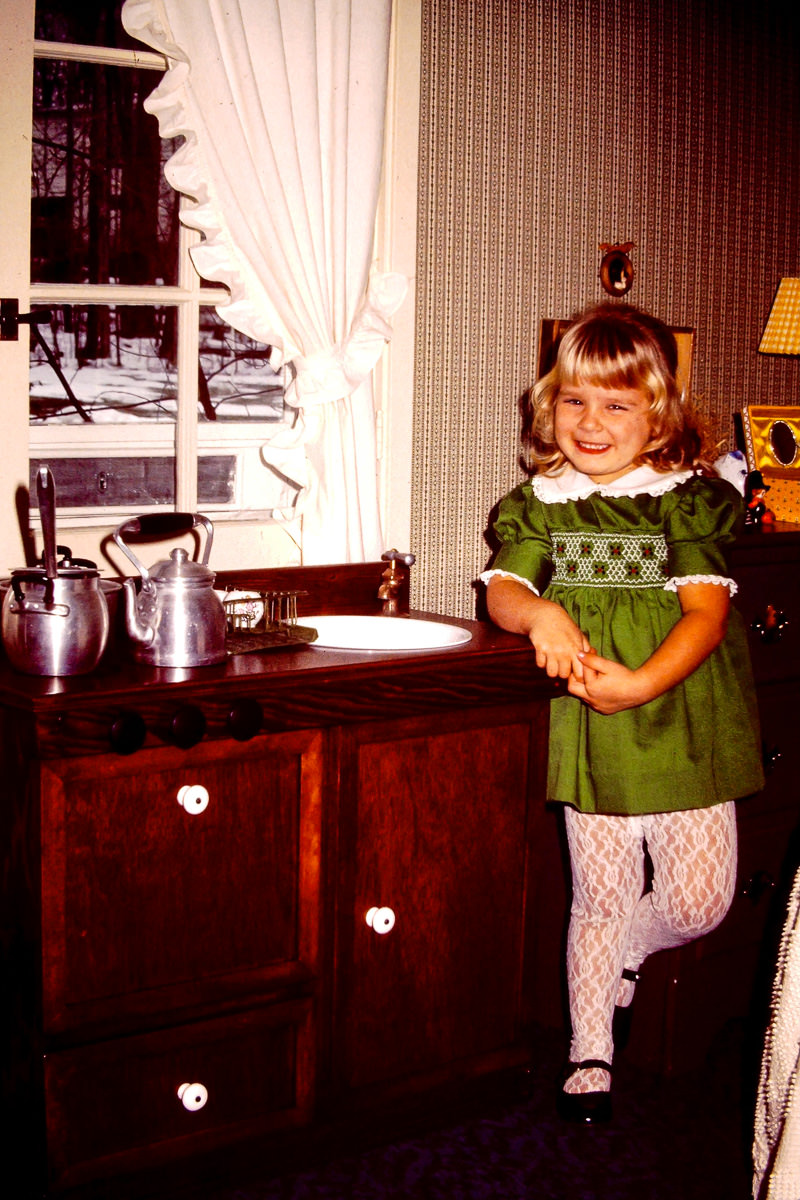 Christmas 1974: still cute Jenny