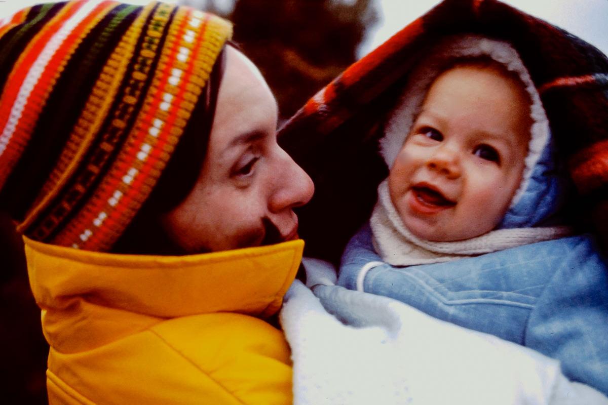 Christmas 1974: Jan, me