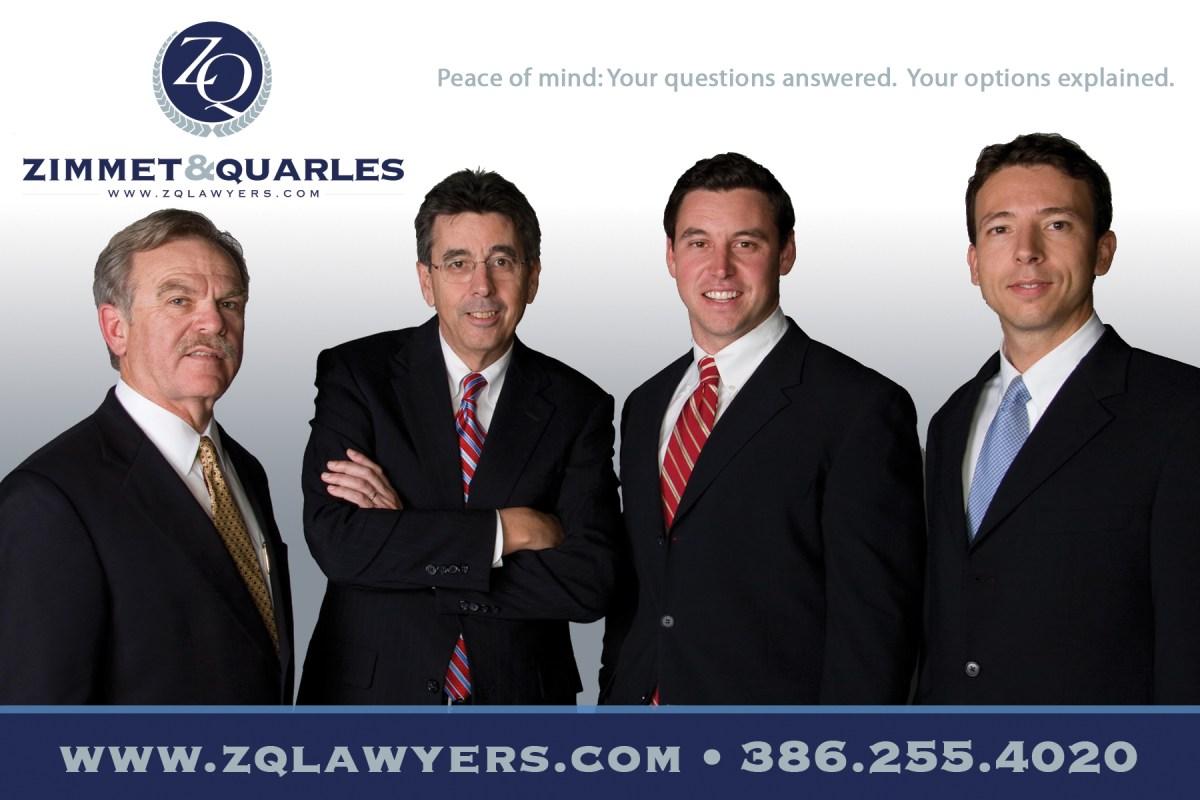 Zimmet & Quarles Law ads