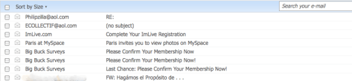 ejemplo spam