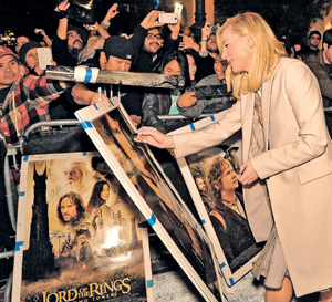 Ms. Blanchett signs autographs before walking the red carpet Saturday at the Arlington Theatre.MIKE ELIASON/NEWS-PRESS PHOTOS