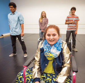 Teen Stars, practicing for the big event. Mary-Grace Langhorne (foreground), back row, from left: Jason Paras, Zoe Lynn Burritt and Nathaniel Neumann.