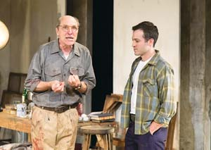 """Matt Gottlieb play abstract-expressionist painter Mark Rothko and Shaun Anthony his put-upon young assistant in the dramatic new play at The New Vic, """"Red."""" John Logan's play won six Tony Awards in 2010"""