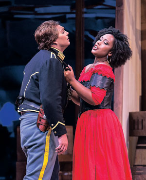 """Brianna Hunter, with co-star Brett Payne, was fabulous in the title role of """"Carmen,"""" at the Granada Theater last weekend"""