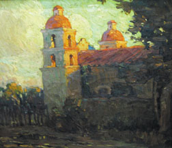 """Sunset Light"" is an oil on canvas by well-known plein air artist Benjamin Brown, probably painted in the first quarter of the 20th century."