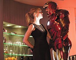 """Gwyneth Paltrow's Pepper Potts, left, and Robert Downey Jr.'s Tony Stark continue their off-kilter romance in """"Iron Man 2."""" Paramount Pictures Photos"""