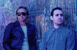 Iron Curtain's Steve Fields, right, and Doug Norton, left, circa 1983. Rebecca Traver Photo
