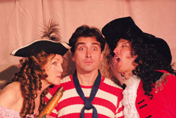 """Susie Couch, left, Max Avila, center, and Jasin Ouisenberry star in Circle Bar B's """"Nonsense Precious."""" Courtesy photos"""