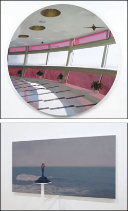AT TOP, 'POD 3,' PAUL WINSTANLEY; ABOVE, 'EPIPHANY MODEL: THE PHOTOGRAPHER 2,' PETER ROSTOVSKY