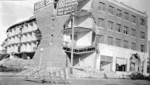The California Hotel was among myriad buildings devastated by the earthquake of June 29, 1925.