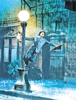 """Gene Kelly in """"Singin' in the Rain The Kobal Collection photo"""