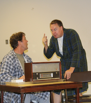 "Sean O'Shea plays Gately and Sean Jackson is Silvio in the Center Stage Theater production ""Pvt. Wars."" Courtesy photo"